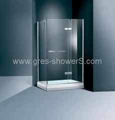 easy clean 8mm glass eruopean hot sale Hinge Door shower enclosure