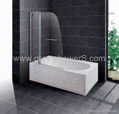 Rising hinge safety glass Bathscreen-NS72