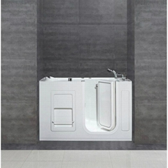 "54"" Acrylic Walk-In Whilrpool Bathtub for Corner Installations with Right Drain, (Hot Product - 1*)"