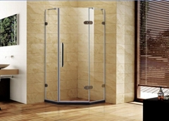 easy assembly tempered glass Hinge Door shower enclosure