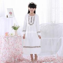 Spring Autumn Kids Sleepwear Sleeping Dress long Cotton Pajamas Children Pijama