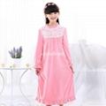 Nightgown Sleepwear Girls Long Sleeve