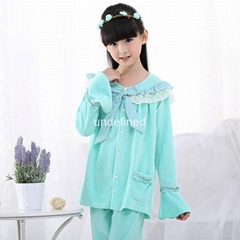 Children high quality Pijamas Flannel Princess pyjama Set