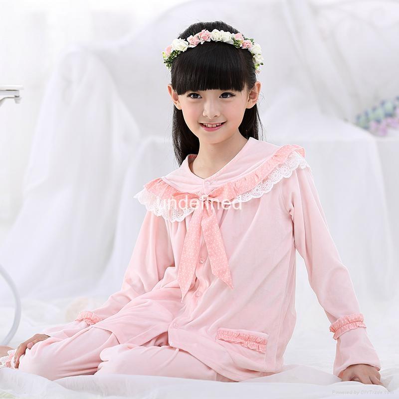 Children high quality Pijamas Flannel Princess pyjama Set 3