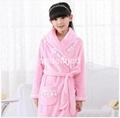 Pajamas bathrobe coral fleece long