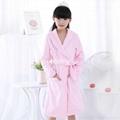 Girl  bathrobe coral fleece long high