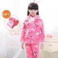 Children Warm Thicken Flannel pyjama set