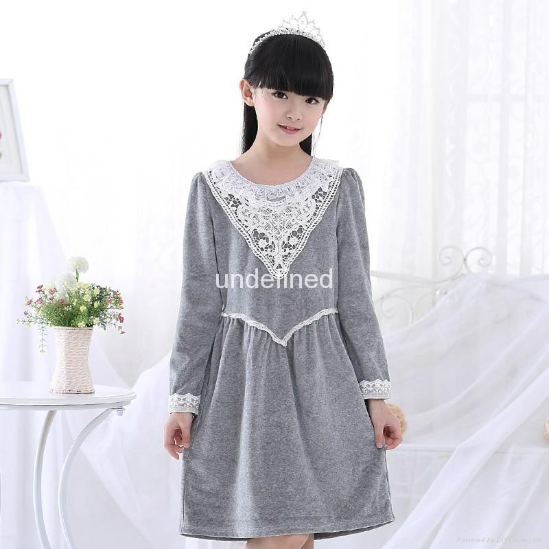 Long lace Nightgown children's pajamas (6-14) 2