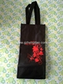 good non woven red wine bag