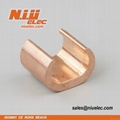 7.5mm-700mm C-Type Compression Copper Wire Cable Coil Clamps for Pipes CCT