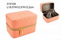 high-grade PU leather cosmetic bag with