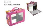 PVC window cosmetic box with color printing 1