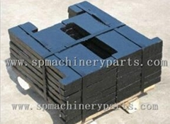 OEM iron cast elevator counter weight