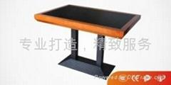 Z79實木玻璃火鍋桌