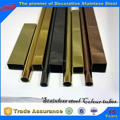 ti-gold stainless steel tube