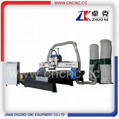Heavy duty Wood CNC Router engraver cutter with air cylinder ZKM-1325B-5.5KW