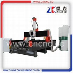 High Z axis 4 axis wood stone cnc engraving machine ZK-1325-5.5KW