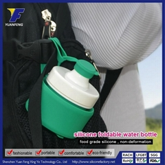 2015 Factory Direct Hot Sale Foldable Soft Traveling Hiking Hot Water Bottle