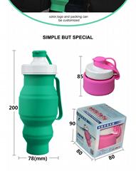 Smart And Adroit FoldableWaterBottle New Design Food Grade Fancy Water Bottle