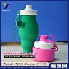 Best Custom Printed Logo Foldable Water Bottle Wholesale Price