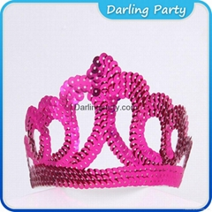 China Red Glittering Party Crown For Kids