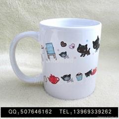 陶瓷馬克杯直身杯7102陶瓷杯辦公室陶瓷杯可定製logo