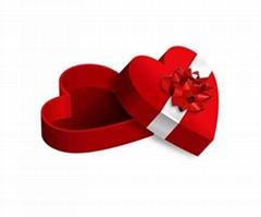 Heart shape chocolate gift box