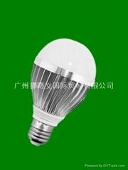 供应LED 铝制球泡灯  厂家直销  高效节能环保  E27接口