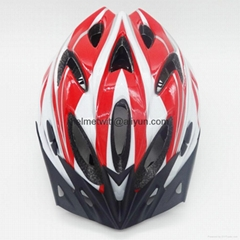In-mold bicycle helmet