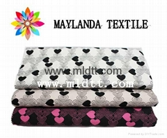 Maylanda textile 2016 factory for garments  New style heart-shap jacquard fabric