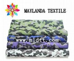 Maylanda textile 2016 factory for garments New style  Camouflag jacquard fabric