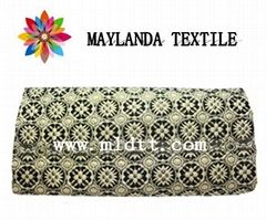 Maylanda Textile 2016 for Garment,color yarn jacquard fabric with metallic yarn