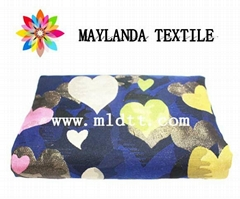 Maylanda textile 2016 factory for garments ,heart-shaped  jacquard fabric