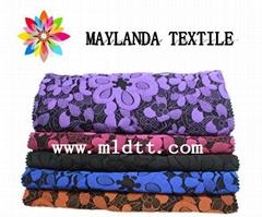Maylanda textile 2016 factory for garments, lace flower jacquard fabric