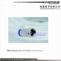 Digital Camera Transmit CATV Coaxial Cable RG6 in 20M with Compression Connector