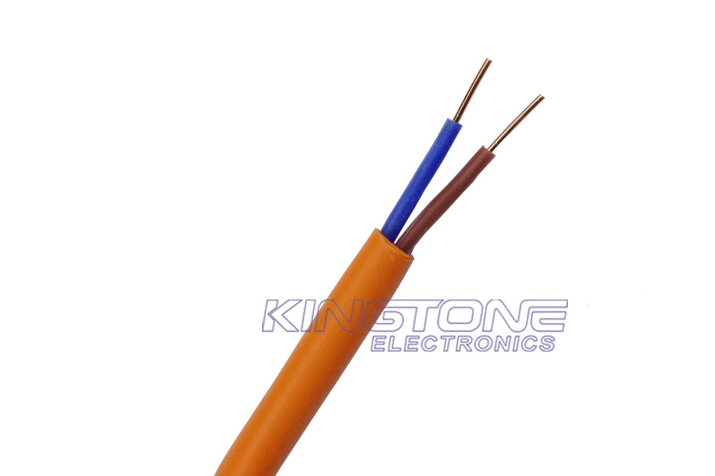 Fire Resistant Cable Heat Wiring Insulation Frhf Unshielded 2 Cores With Silicone Halogen Free Pvc