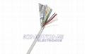 Installing Surveillance Cameras Shielded Security Alarm Cable PVC Jacket