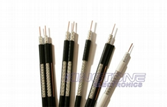 75 Ohms Dual CATV RG6 Coaxial Cable 60% AL Braiding for CCTV, CATV