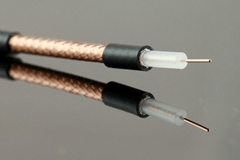 95% BC Braiding RG59 Black Coaxial Cable with 0.58mm BC Conductor Solid PE PVC
