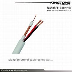 RG59+2×0.75mm2 CCTV Coaxial Cable 0.71mm Copper Foam PE B.ALF 48×0.12mm
