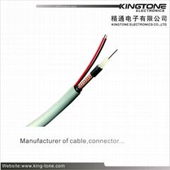 RG59B/U CCTV Coaxial Cable  95% CCA Braiding+2×0.75mm2 OUTDOOR