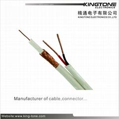 RG59/U CCTV Coaxial Cable 95% CCA Braiding + 2C/18AWG Siamese