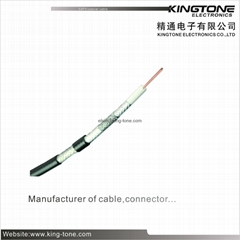 75 Ohm CATV Coaxial Cable RG11 Quad - Shield with Messenger Coaxial Cable CCS