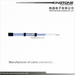Tri - Shield Outdoor Coaxial Cable RG11 75 Ohms PE Jacket For Local Area Network