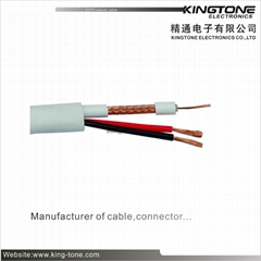 CCTV Coaxial Cable RG59 + 18AWG / 2C 95% CCA Braid Siamese Cable CMR Standard