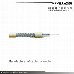 75 Ohm Coaxial Cable RG59 BC Condcuor Solid PE 95% CCA Braiding RoHS Standard