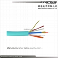 Indoor Tight Buffered Soft Optical Fiber Cable  2~12 Core PVC Jacket 1