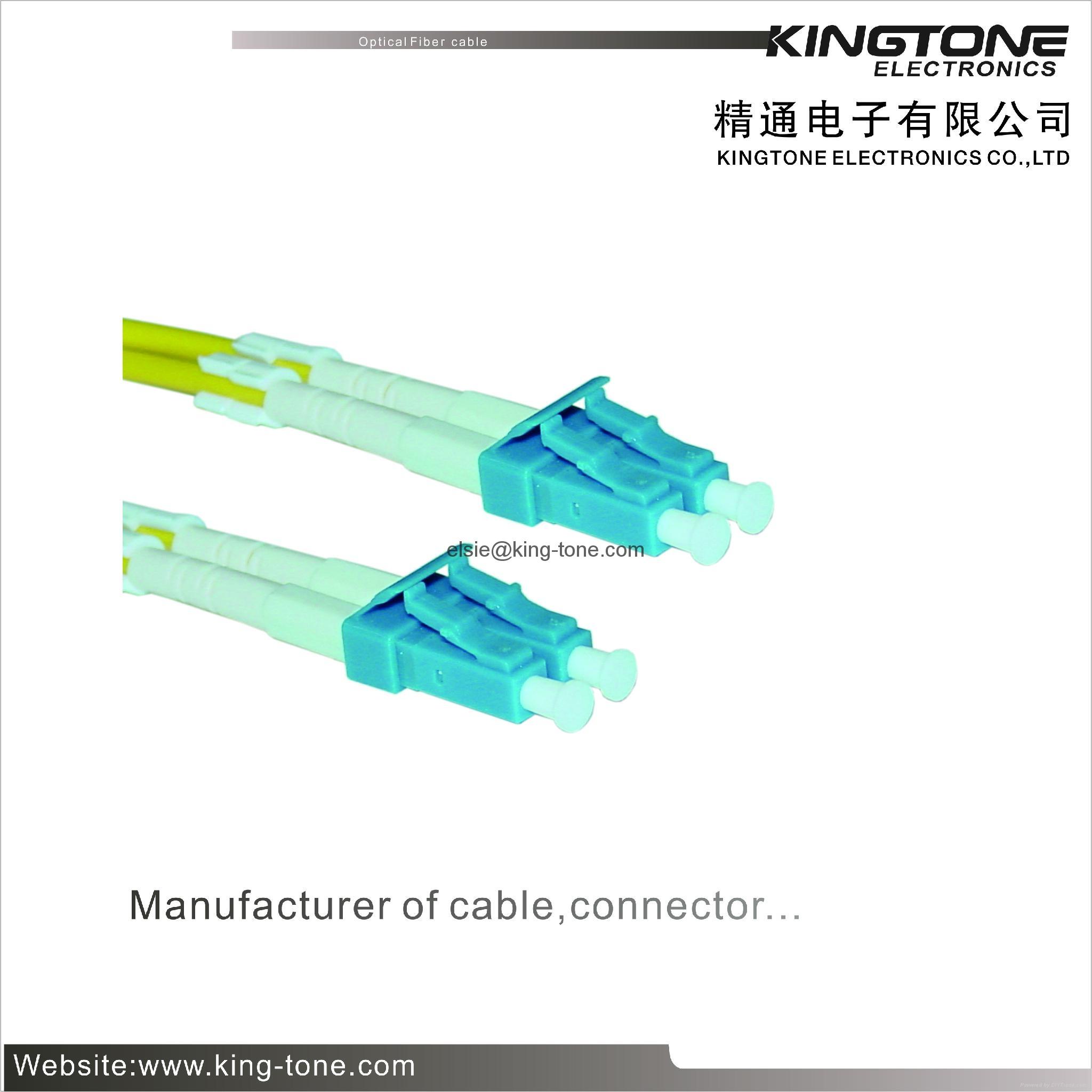 Duplex White Fiber Optic Patch Cord Lc To 625 125 High Return Kabel Optik Patchcord Loss