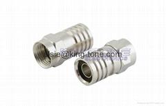 F Type Male Bulkhead Coaxial Cable Connectors 75 Ohm / Video Connectors