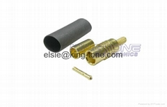 RG174 / 188 / 316 Coaxial Cable Connectors MCX Crimp Style Straight & Right Angl
